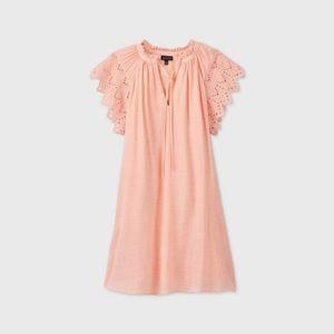 Flutter Short Sleeve Dress- Who What Wear B7